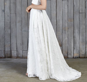 Stevenson Lace Boho Bridal Skirt - natural artisan wedding trend