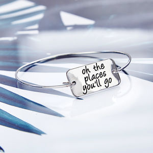 'Oh The Places You'll Go' Bangle - bracelets & bangles