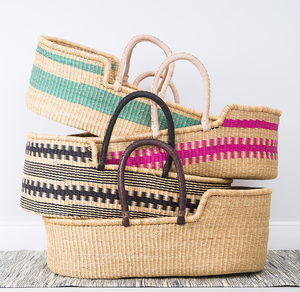 Handwoven Moses Basket - re-earthed
