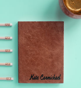 Personalised Academic Year, Mid Year Diary In Leather - 2017 & 2018 diaries