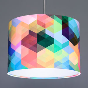 Simon C Page Cuben Array Geometric Lampshade
