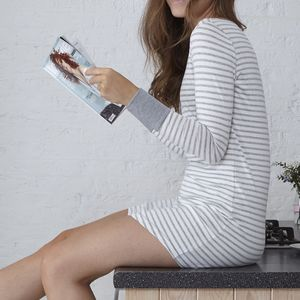Jersey Long Sleeve Nightdress - lingerie & nightwear