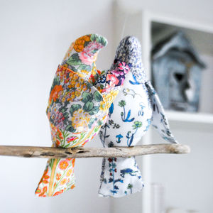 Liberty Print 'Our Bundle Of Joy' Bird Cot Mobile