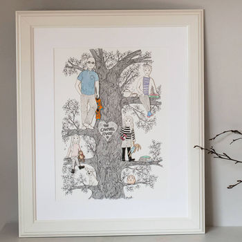 Personalised Illustrated Family Tree Portrait