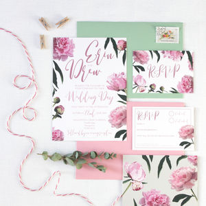Peony Wedding Invitations - invitations