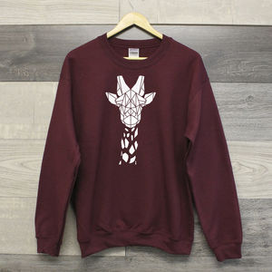 Cute Unisex Giraffe Crewneck Sweater
