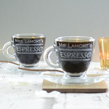 Personalised Wedding Espresso Glass Set