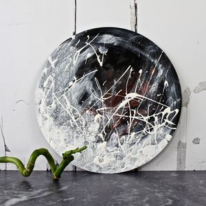 Circular Abstract Painting 'Snow Storm' - canvas prints & art