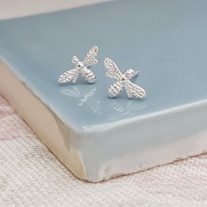 Sterling Silver Bee Studs - new in baby & child