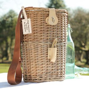 Personalised Chilled Picnic Bottle Basket