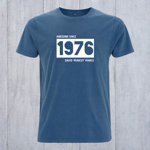 Personalised Birth Year And Nickname T Shirt - t-shirts