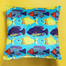 Aqua Fish Velvet Cushion