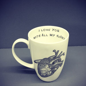 I Love You With All My Heart Bone China Mug