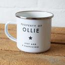 Personalised Property Of Enamel Mug