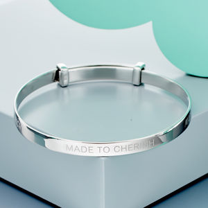 'Cherish' Christening Bangle