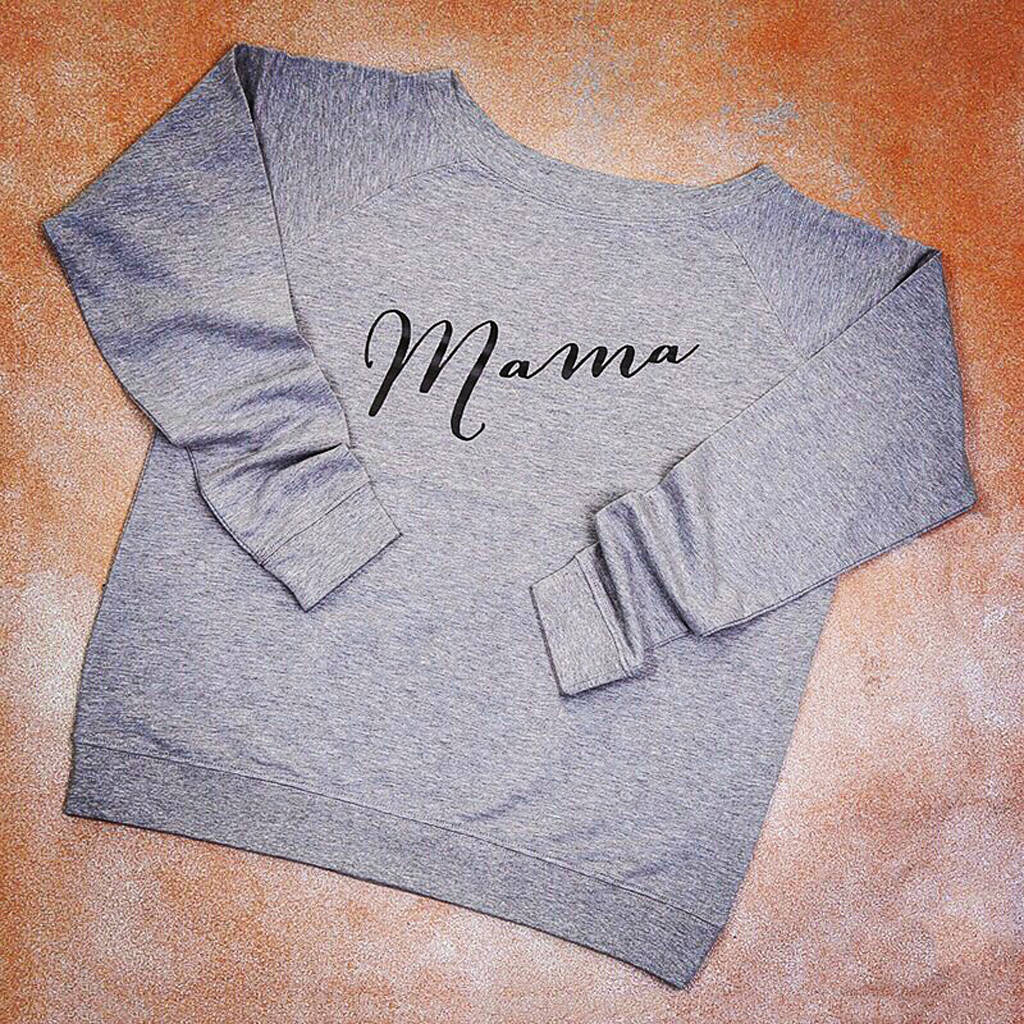 Personalised Mama Slouch Jumper