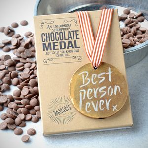 Best Person Ever Belgian Chocolate Medal - gifts for her
