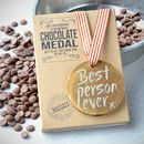 Best Person Ever Belgian Chocolate Medal