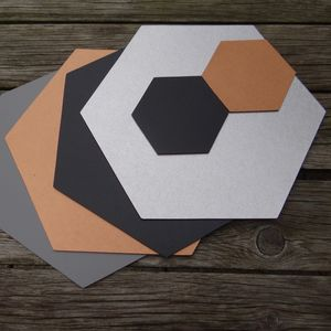 Hexagon Leather Placemat