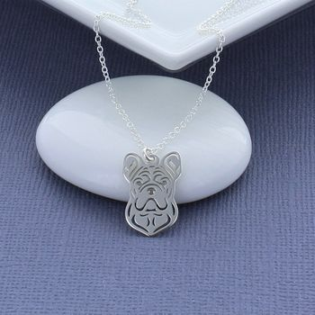 French Bulldog Head Necklace