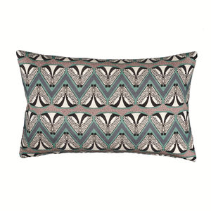 Emerald Geometric Badger Patterned Cushion