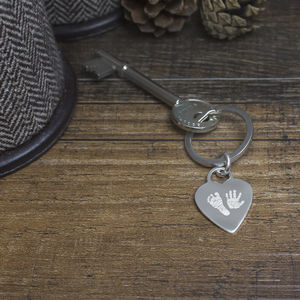 Personalised Heart Handprint Keyring