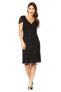 Downton Abbey Flapper Embellished Dress - dresses