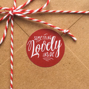 'Something Lovely Inside' Gift Labels - gift tags & labels