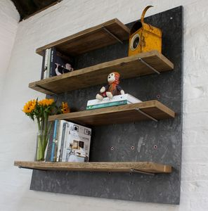 Avon Peg Adjustable Shelves Mounted On Painted Osb - office & study