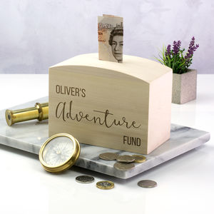 Personalised Adventure Fund Money Box - money boxes