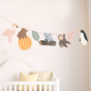 Safari Children's Party Garland/Bunting Kit - children's decorative accessories