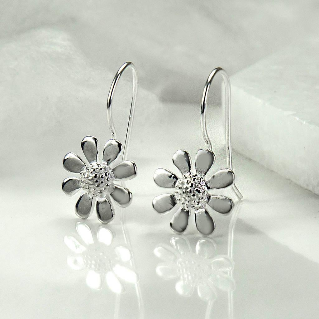 Beautiful silver contemporary daisy earrings by martha jackson sterling  YB71