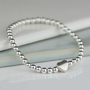 Milly Silver Heart Charm Bracelet - gifts for her
