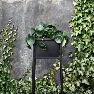 Black Garden Planter With Stand - pots & planters