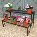 Solid Steel Two Or Three Tier Garden Plant Stand