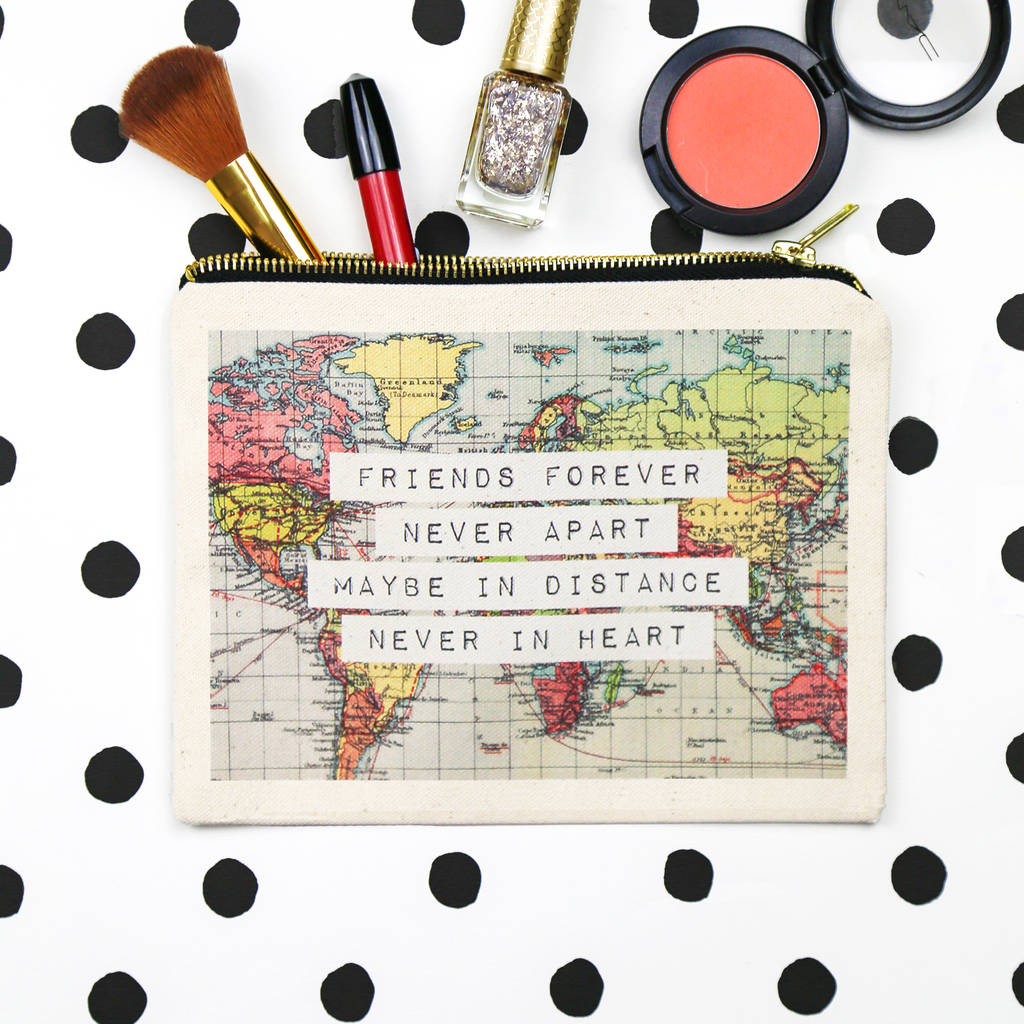 World map friendship make up bag by of life lemons world map friendship make up bag gumiabroncs Choice Image