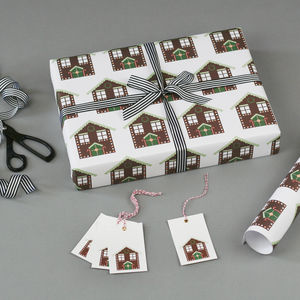 Gingerbread House Christmas Wrapping Paper - cards & wrap