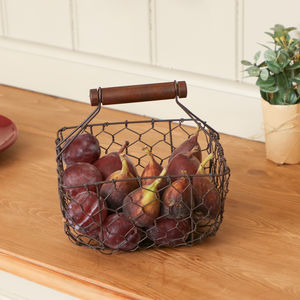 Industrial Chickenwire Kitchen Storage Basket - sale