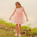 Girls French Designer Flower Dress