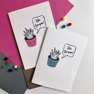 'Aloe Gorgeous' Greeting Card