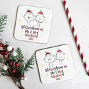 Personalised 1st Christmas As Mr And Mrs Coaster Set F