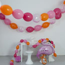 Flamingo Pink And Peacock Blue Balloon Bunting