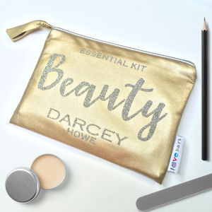 Personalised Metallic Make Up Bag - make-up & wash bags