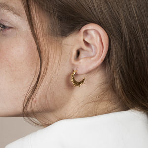 18k Gold Vermeil Indian Dot Earrings - best gifts for her