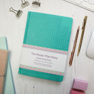'The Master Plan' 2018 Family Diary. Several Colours
