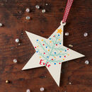 Personalised Christmas Tree Star Decoration