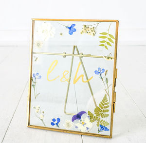 Personalised Brass Standing Frame Pressed Flowers - our top new picks