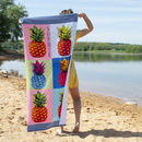 Personalised Pineapple Beach Towel