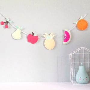 Felt And Glitter Fruit Garland