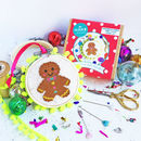 Gingerbread Fred Cross Stitch Bauble Craft Kit